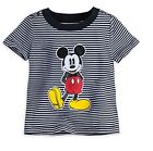 Disney Store Mickey Mouse Black Striped Baby T Shirt Size 12 18 Months NEW