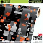 Large Digital Urban Orange Camouflage Vinyl Car Wrap Camo Film Sheet Roll