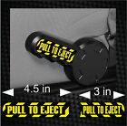 Pair of PULL TO EJECT Seat Handle JEEP Wrangler Vinyl Decal Sticker Set JK TJ CJ