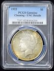 1922 Peace Dollar PCGS Genuine Cleaning UNC Details