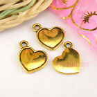 25Pcs Antiqued Gold Heart Picture Frame Bead Settings Charm Pendants A4754