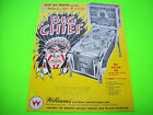 Williams BIG CHIEF 1965 Original Flipper Game Pinball Machine Promo Flyer Rare