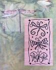 Magenta Rubber Stamp Whimsy DRAGONFLY TRIO Spring Summer Nature Bugs Wood Mount