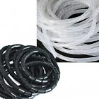 Spiral Wrap Cable Tidy Wire Organize Tool Kit For Home OfficeTV/ PC White Black
