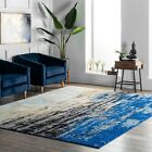 nuLOOM Abstract Modern Area Rug Multi in Blue  45 Star Amazon Reviews