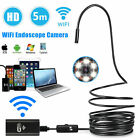 5M 6LED Waterproof WiFI Endoscope Borescope Inspection Camera for Andriod iPhone