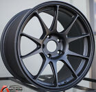 17X8 +45 ROTA TITAN 5X1143 BLACK WHEELS FITS MAZDA SPEED 3 5 6 MIATA MX 5 RX8