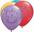 WINNIE The POOH First 1st #1 Happy BIRTHDAY Party (6) LATEX Helium Balloons