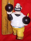 Vintage Bluto Holding Two Dynamite PVC Figure From Popeye The Sailor Man