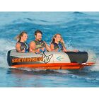 1 2 3 Person HO Sports Sidewinder 3 Towable Water Ski Tube Boat W Rope