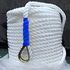 200 Twisted Three Strand Nylon Anchor Rope Boat with Thimble White