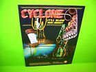 Williams CYCLONE 1988 Original NOS Flipper Game Pinball Machine Promo Sale Flyer