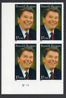 Sc# 3897 37 Cent Ronald Reagan (2005) Unused PB/4 P# S1111 LL SCV $3.00