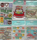 U CHOOSE Assorted Jolees ROAD TRIP travel 3D Stickers signs map highway route