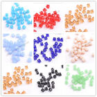 4MM 6MM 8MM Cube Square Faceted Rondelle Crystal Glass Loose Spacer Beads