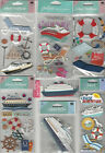 U CHOOSE Assorted Jolees Sandylion Stand outs CRUISE 3D Stickers beach travel
