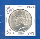 1922 P BU GEM PEACE SILVER DOLLAR COIN 3998 UNC MS+++ US MINTRARE