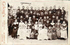 Ghostly vintage photograph of Victorian children spooky haunting cabinet card