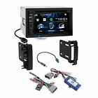 Kenwood DVD Sirius Xm Stereo Dash Kit Wire Harness for 07+ Chrysler Dodge Jeep