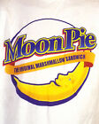 vtg 90s retro Moon Pie Marshmallow Sandwich T Shirt advertising awesome logo XL