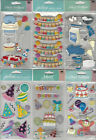 U CHOOSE Assorted Jolees BIRTHDAY LONG 3D Stickers party hat clown balloons