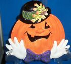 Fitz & Floyd Essentials Pumpkin Halloween Harvest Multi-Color Serving Plate NEW