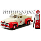 GREENLIGHT 12991 1953 FORD F-100 PICK UP TRUCK 1/18 TEXACO with VINTAGE GAS PUMP