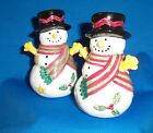 THE SWEET SHOPPE CHRISTMAS Sango Salt & Pepper Shakers Multi-color Snowman NEW