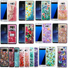 For Samsung Galaxy S8 S8 PLUS Liquid Glitter Quicksand HARD Case Phone Cover