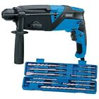 750w SDS H/drill+11pc Chis/set - Draper 58546 Hdrill11pc Chisset
