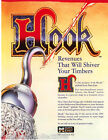 HOOK By DATA EAST 1992 ORIGINAL NOS PINBALL MACHINE PROMO SALES FLYER