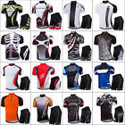 Mens Pro Team Cycling Jersey Set Top  Shorts Kits MTB Quick Dry Sportswear Suit