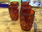 Le Smith Lot Of 5 Amberina Moon And Star Tumblers