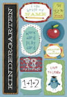 KAREN FOSTER DESIGN IM IN KINDERGARTEN SCHOOL CARDSTOCK SCRAPBOOK STICKERS