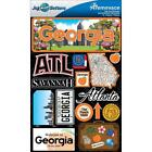 REMINISCE JET SETTERS GEORGIA ATLANTA SAVANNAH TRAVEL 3D SCRAPBOOK STICKERS
