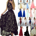 Women Formal Lace Wedding Bridesmaid Ball Gown Evening Cocktail Party Prom Dress