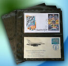 SuperSafe First Day Cover 6 Horizontal 2 Pocket REFILL Pages