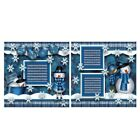 Printed Premade Scrapbooking 2 Page Layouts SNOW winter snowman snowflakes