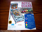 ROYAL GUARD By GOTTLIEB 1968 ORIGINAL USED PINBALL MACHINE SALES FLYER BROCHURE
