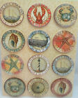 Tim Coffey Travel Round Epoxy Stickers Lighthouse Ships Crab Lobster  More