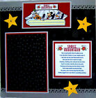 SPACE MOUNTAIN DISNEY holds a 5X7 photo One 12X12 Premade Scrapbook Page