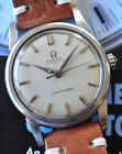 Vintage 1959 Omega Seamaster Watch RARE Tuxedo Dial C. 570 Automatic Serviced ++