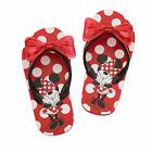 Disney Store Minnie Mouse Red Girls Flip Flops Sandals Size 11 12 13 1 2 3