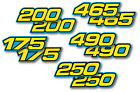 1982-1986 Yamaha IT 175 200 250 465 490 Side Panel Decals - Select a size