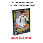 2017 Topps Museum Collection Black 5x7 GOLD (# 10 Made) HONUS WAGNER Pirates #74