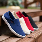 Breathable Mens Shoes Canvas Slip On Summer Casual Comfort New Fashion Low Top