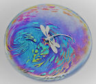 Neo Art Glass disk paperweight sterling silver frogfairybutterfly by KHeaton