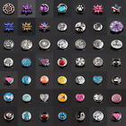 3D 18mm Rhinestone Drill Snaps Chunk Charm Button For Noosa Necklce/Bracelets
