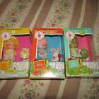 3 SEALED VINTAGE STRAWBERRY SHORTCAKE DOLLS  + PETS  KENNER  1980'S RARE  MINT !