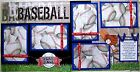 BASEBALL TWO 12X12 Premade Scrapbook Pages